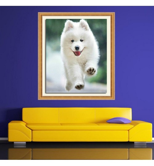 Diy diamond painting puppy cross-stitch living room decoration custom large picture