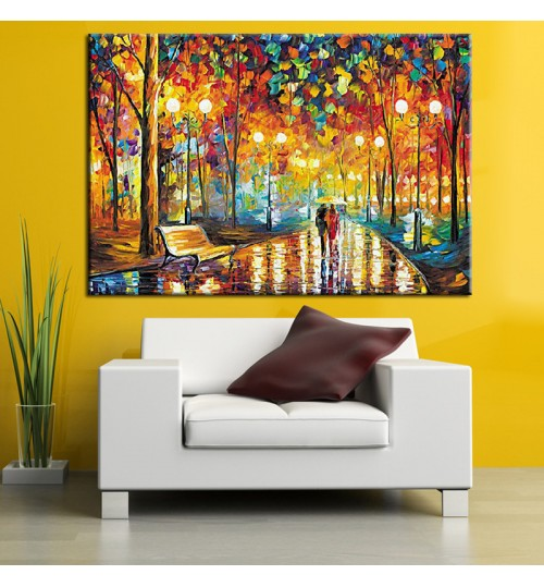 5d diamond painting cross-stitch night walk square full diamond living room handmade decoration