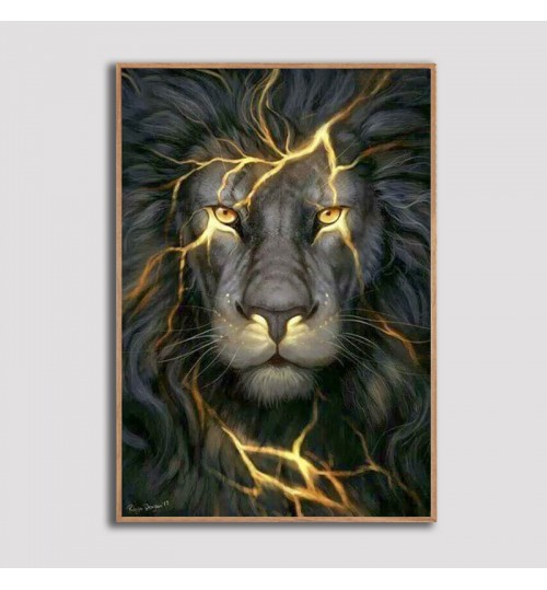 Diamond painting lion DIY 2.8 apex square diamond round diamond embroidery living room decoration custom