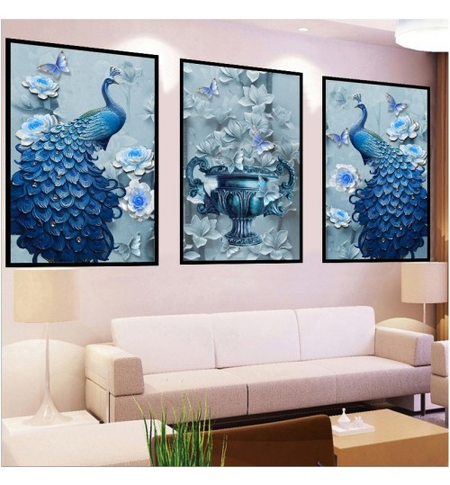 DIY diamond peacock new living room stickers diamond embroidery