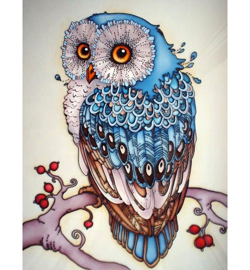 5D diamond owl painting square diamond cross-stitch DIY sticker