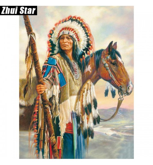 Diamond painting DIY new Indians pattern diamond embroidery living room decoration pictures