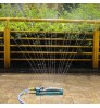 Aluminum pipe 15 nozzles Automatic plastic swing sprinkler with plastic nozzle garden lawn sprinkler