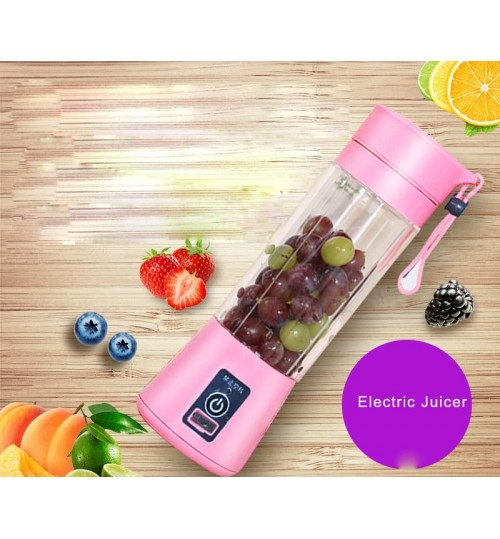 Electric mini juicer home portable blender multi-function fruit juicer cup small glass juice extractor