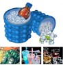 Irlde ice genie household silicone ice bucket small portable ice cup Saving Ice Cube Maker