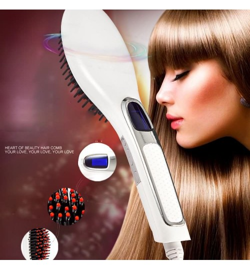 Electric comb hair straightener 3 minutes straight long hair electric plywood ceramic hairdressing tools