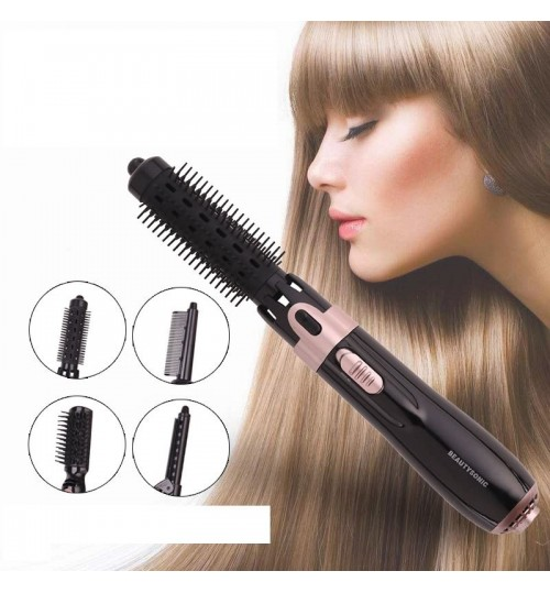Hot-selling 4 in 1 Hair comb multi-function hair dryer Roll straight curly hair bangs hair fast fixing