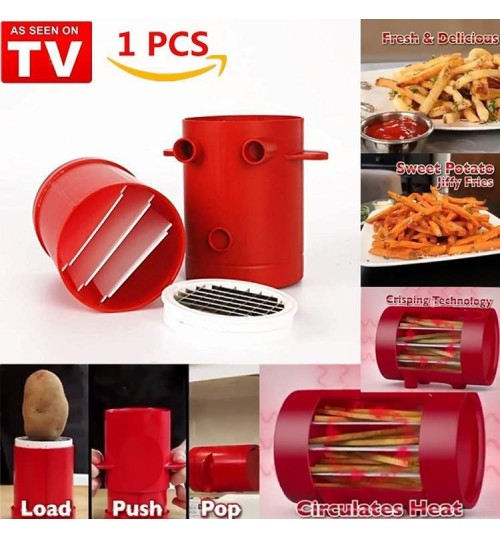 As Seen On TV Jiffy Fries potato cutting machine thin slicer cutter crisp fresh fries chipper baking microwave