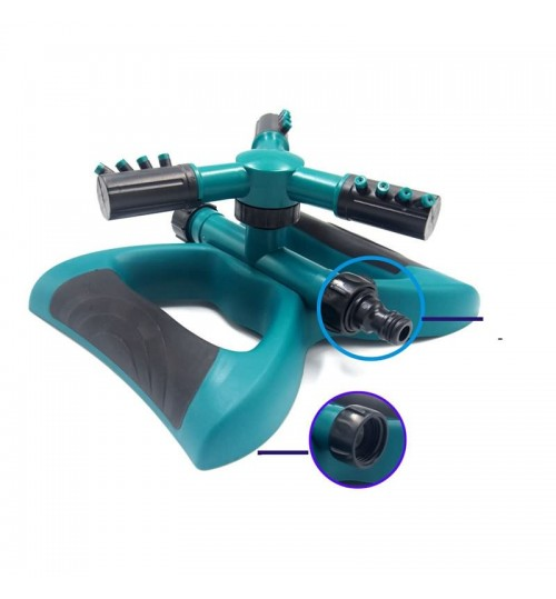 Lawn irrigation sprinkler 360 degree rotating nozzle plastic series connection butterfly three fork 8-10 Meters spraying diameter