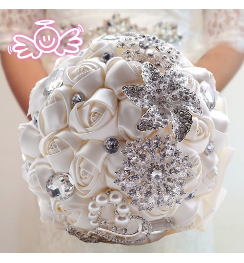 D336 bride hand bouquets Valentine's Day Korean European and American wedding floral cloth gift