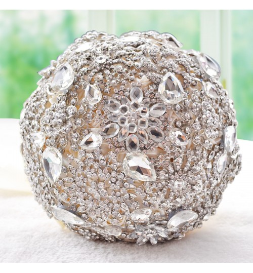 D449 Wedding product Korean style Bride's Bouquet full diamonds rhinestone shining cloth flowers