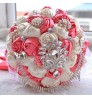 D451 noble Bridal pink red Wedding simulation Bouquet Creative Gift for Christmas Wedding Supplies