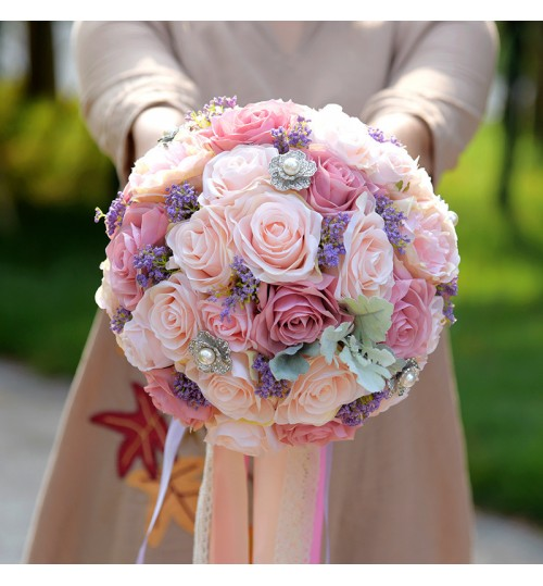 D526 Marriage Wedding Supplies Hand Bouquet Simulation Flower Quality red Candy Box