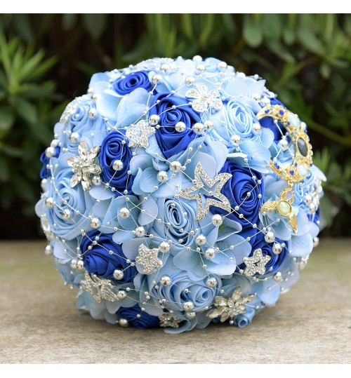 D557 Wedding Supplies Romantic Stars Bride Holding flowers beautiful Bouquets Christmas Gifts