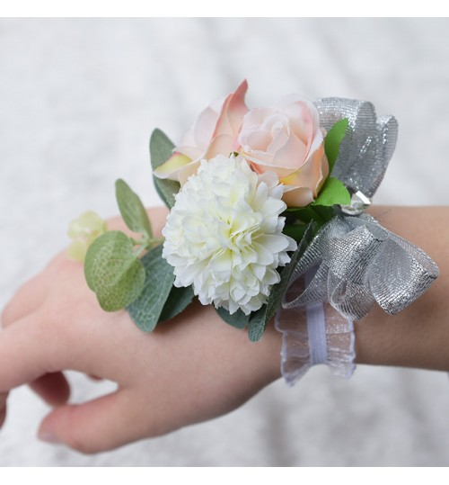 D520 Wedding Supplies Decorative Corsage Artificial cloth wrist Flower Wholesale bridesmaid embroidery gift