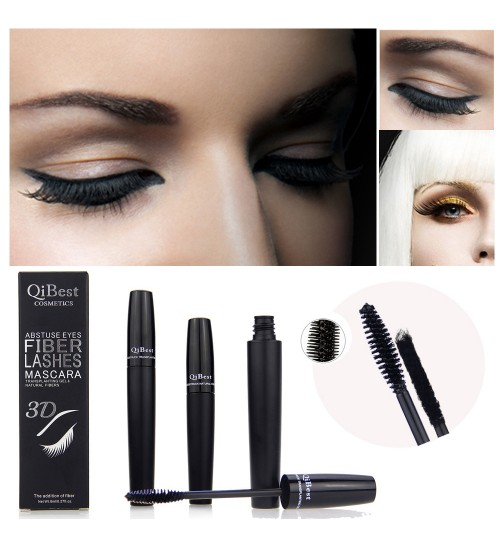 3D mascara black tube thick eyelash fiber combination waterproof do not smudge
