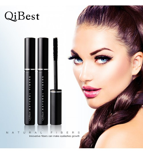 black Lengthen dry eyelash growth fiber graft silk long helix brush works with mascara