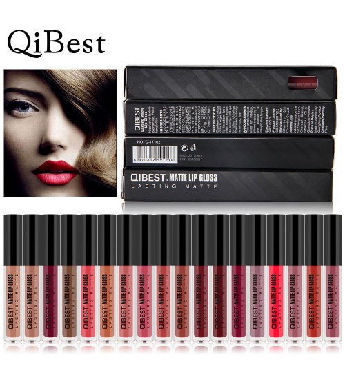 18 colors matte non-stick cup non-fading lip gloss Long-lasting liquid lipstick