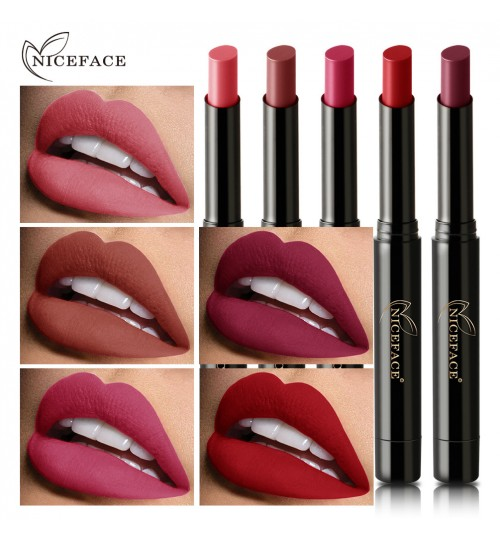 NICEFACE16 colors lipstick pencil matte texture saturated color nude lipstick