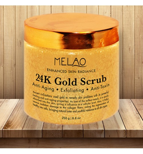 24K Gold Facial Exfoliating Scrub mask enhanced anti-aging skin care body cream Wholesale support oem