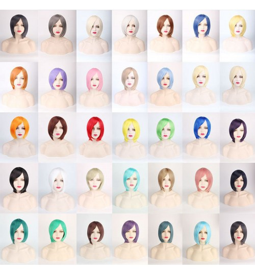 cosplay wig cover face short hair thickening version universal colorful cos wig