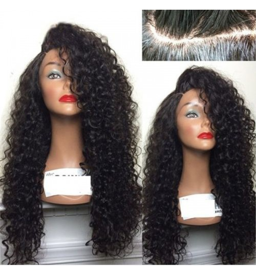 grateful wigs African black ladies long curly hair high temperature chemical fiber hair