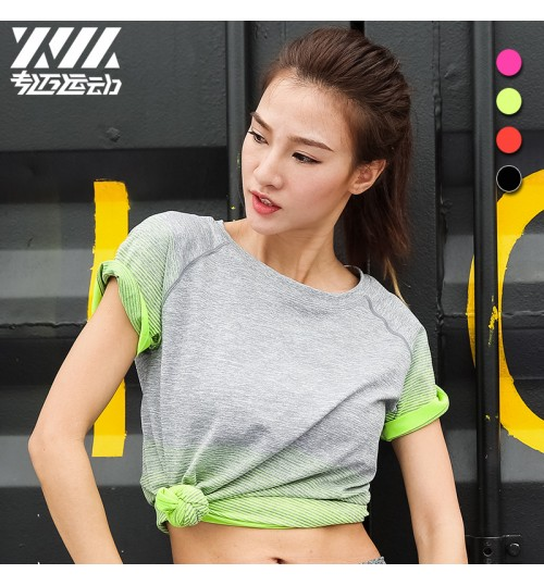 Summer new quick-drying T-shirt breathable wicking outdoor short-sleeved yoga clothes for women