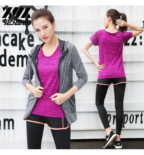 cheap yoga clothes morning running sports suit women gym three-piece quick-drying clothes