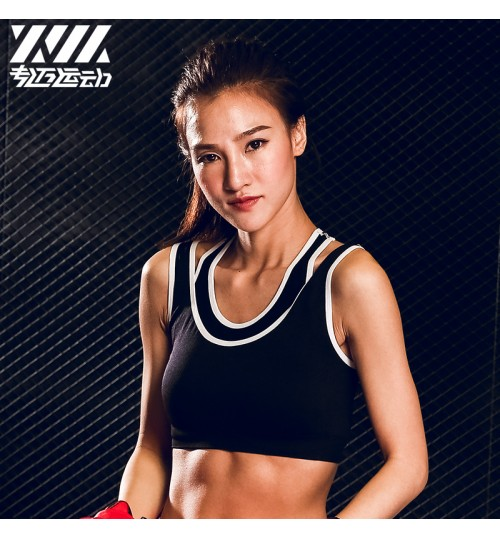 colorful nylon sports underwear women fitness running bra one-piece sports vest bras