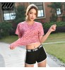gym running training sports shorts female summer breathable loose stretch pants