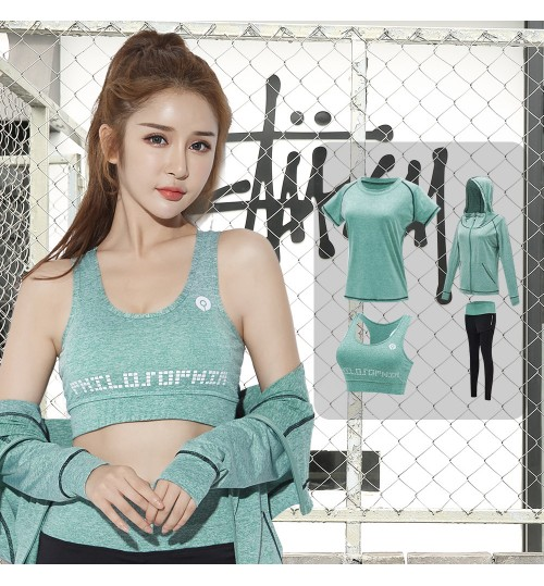 summer new body training fitness yoga clothes quick-drying loose jacket sports suit for women