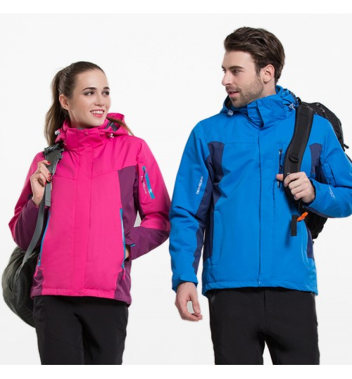 lovers large size outdoor sports jacket mountain ski suit windproof waterproof two-piece 3-in-1 thick clothes