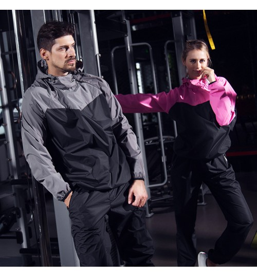 autumn new sweat suit large size fitness sports suit weight loss sweat pants