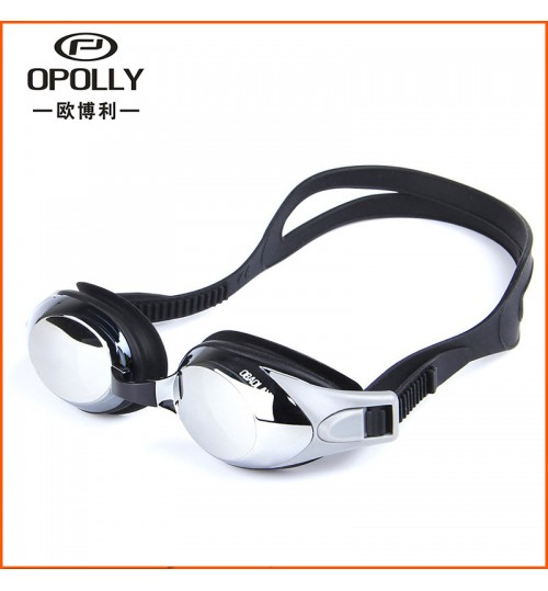 Genuine electroplating swimming plain glasses waterproof adult HD unisex myopia goggles