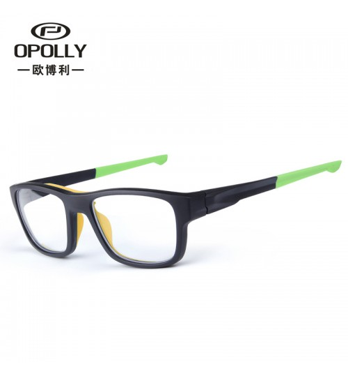 2018 new outdoor sports glasses TR90 frame shock-proof myopia Plain glasses
