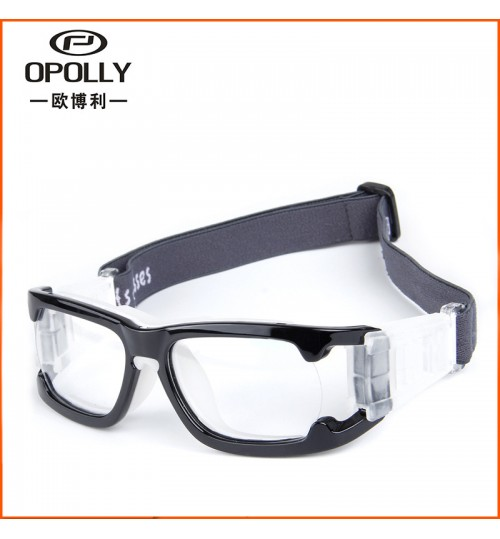 L006 simple sports glasses myopia blinkers with nose protective pad Elastic band not afraid to fall