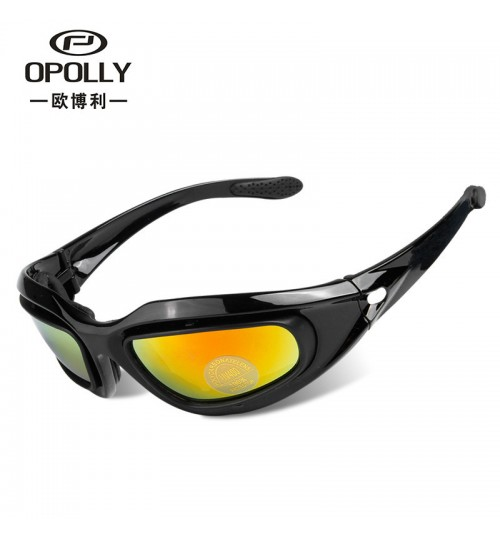 Wholesale Motorcycle Goggles black frame Sports Cycling Glasses