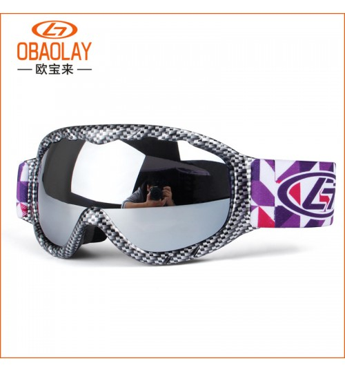 Wholesale outdoor glasses Double-layer anti-fog spherical Children's ski goggles