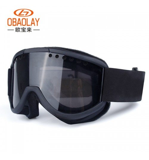 wholesale Ski goggles equipment double layer lenses anti-fog outdoor climbing windproof glasses