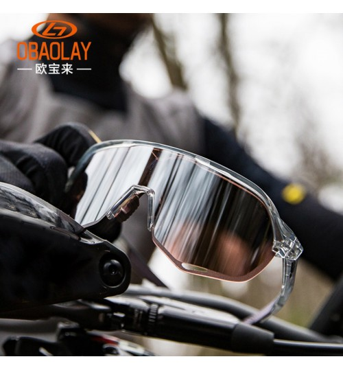 2018 new polarized glasses Half frame windproof bicycle cycling goggles wholesale