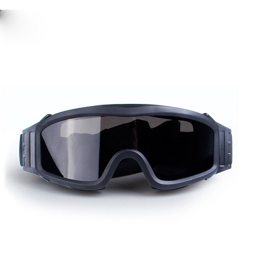 army tactical glasses Army fan explosion-proof anti-shock CS three lens set motorcycle goggles