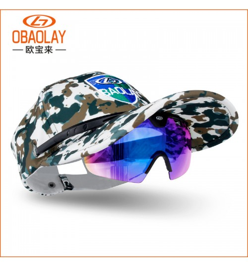 new creative sunglasses polarized sunglasses Men and women sports Fishing glasses hat