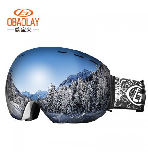 anti-fog Ski goggles new adult double-layer anti-fog myopia spherical glasses winter outdoor eye equipment