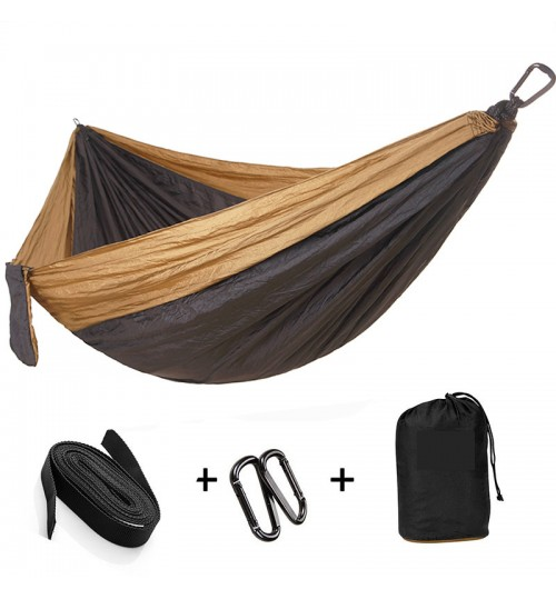 quality parachute cloth double hammock lengthening outdoor camping supplies