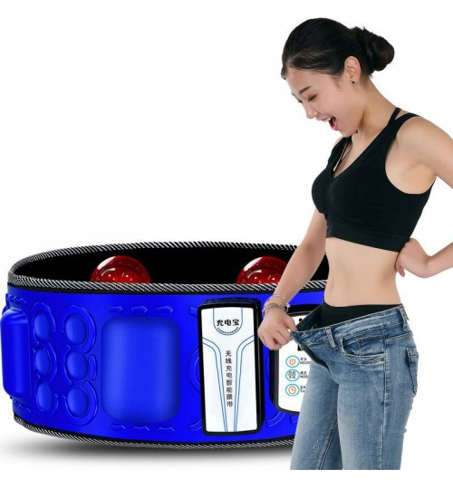 X 5 times wireless charging fat reducer weight loss vibration fat burning belly slimming belt