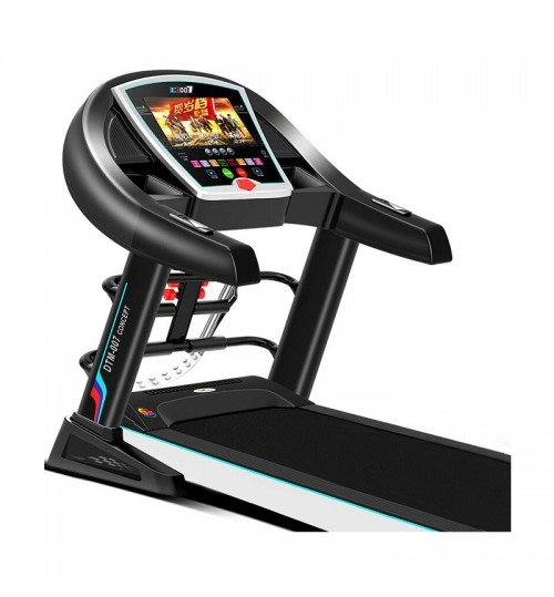 Luxury electric treadmill home-use silent shock absorption indoor foldable multi-function colorful screen wifi fitness equipment