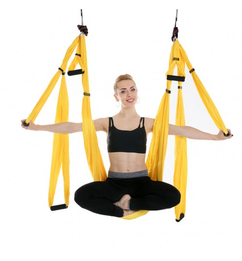 aerial 6 handle home inverted fitness no elastic strong weight yoga hammock