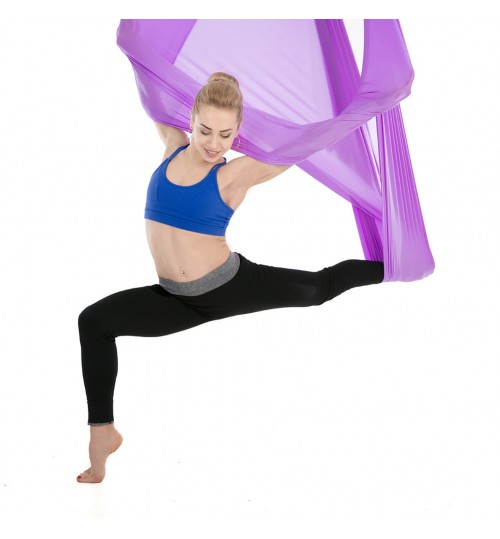 Yoga Gymnasium inverted gravity aerial yoga hammock small elastic 5 meters widened Fitness yoga hammock