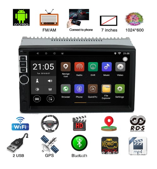 new Android 7.1 MP5 player car 7 inch universal GPS navigation integrated auto device
