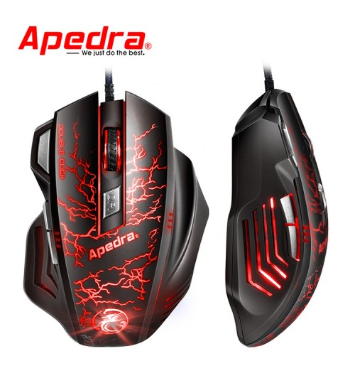 professional wired gaming mouse four gears DPI breathing lights